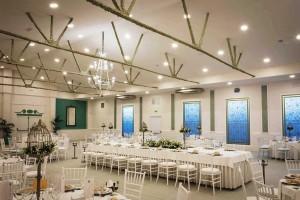 Salón con la mesa de los novios - Hacienda El Pinar de Manabran